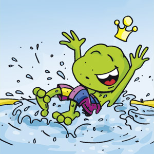 Linus in Badehose - Comic-Strip - kostenlos
