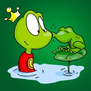 Linus mit Frosch - Wissen über Tiere