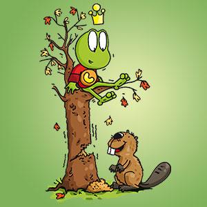 Linus mit Biber - Wissen über Tiere