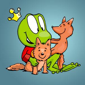 Linus mit zwei Füchsen - Wissen über Tiere