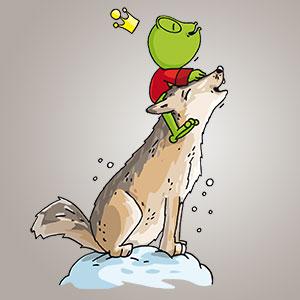 Linus mit Wolf - Wissen über Tiere