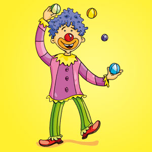 Clown mit lila Haaren - Witze - kostenlos