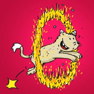 Katze springt durch Feuerreif - Witze - kostenlos