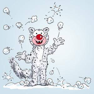 Clown als Schneeleopard verkleidet - Witze - kostenlos