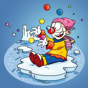Clown auf Eisscholle - Witze - kostenlos