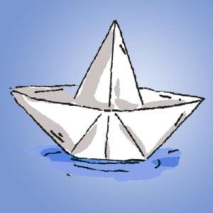 Papierschiffchen im Wasser - kostenloser Zaubertrick für Kinder