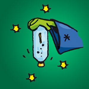 Wasserflasche mit Zahnstocher - kostenloser Zaubertrick für Kinder