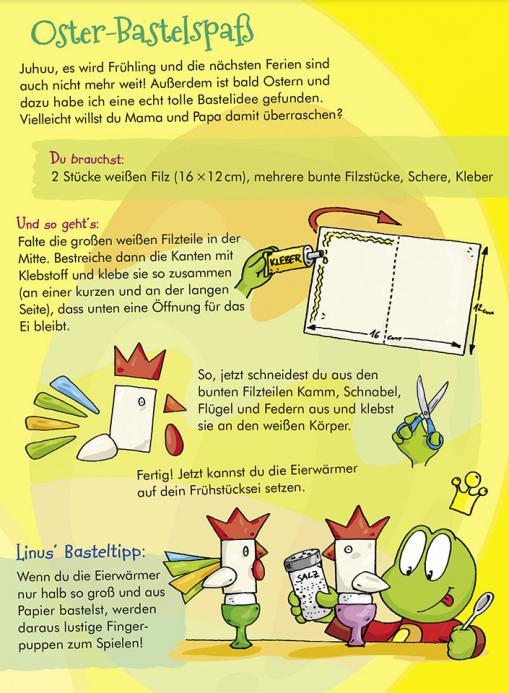 Anleitung Oster-Bastelspaß - kostenlose Bastelidee für Kinder