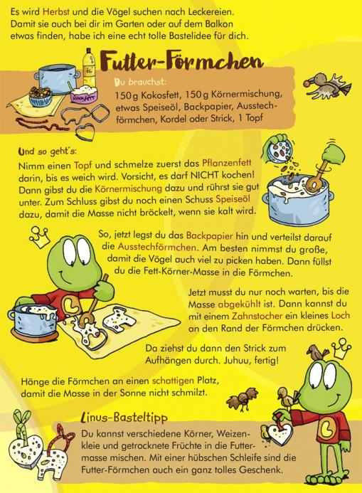 Anleitung für die Futter-Förmchen - kostenlose Bastelidee für Kinder