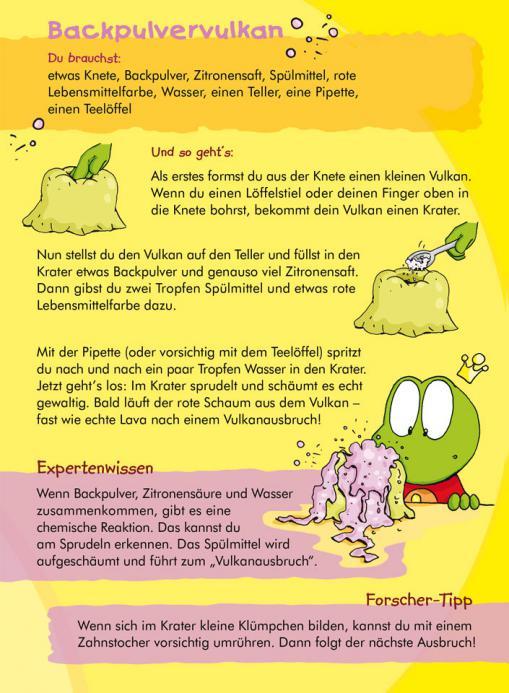 Anleitung für den Backpulvervulkan - kostenloses Experiment für Kinder