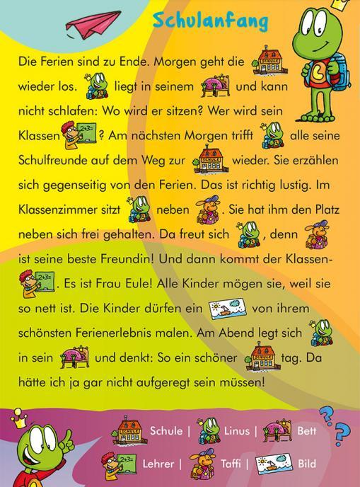 Schulanfang - kostenloser Lesespaß für Kinder