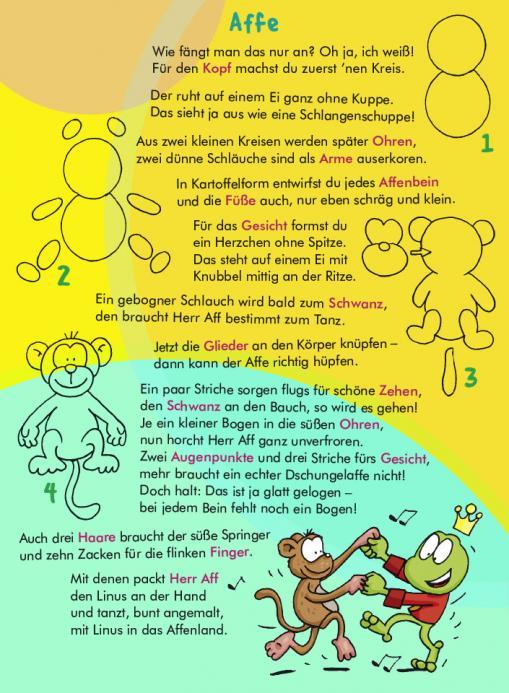 Anleitung für Zeichen-Trick Affe - kostenloser Zeichen-Trick für Kinder