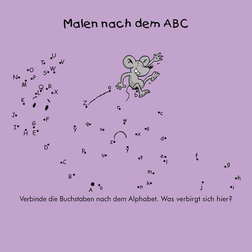 Malen nach dem ABC - kostenloses Rätsel für Kinder