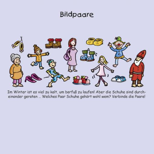Bildpaare - kostenlose Rätsel für Kinder