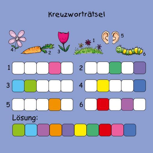 Kreuzworträtsel - kostenloses Rätsel für Kinder