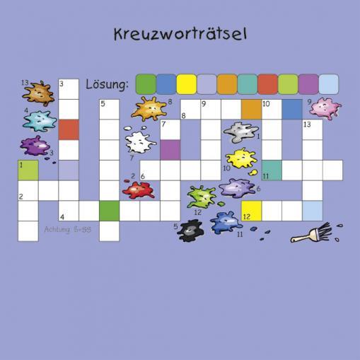 Kreuzworträtsel - Rätsel für Kinder