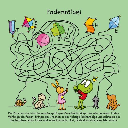 Fadenrätsel - kostenlose Rätsel für Kinder
