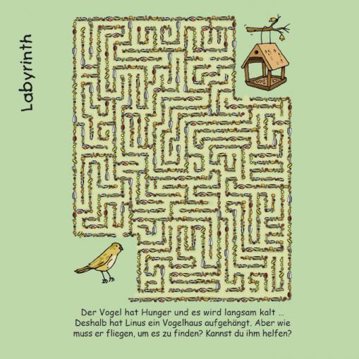 Labyrinth - kostenloses Rätsel für Kinder