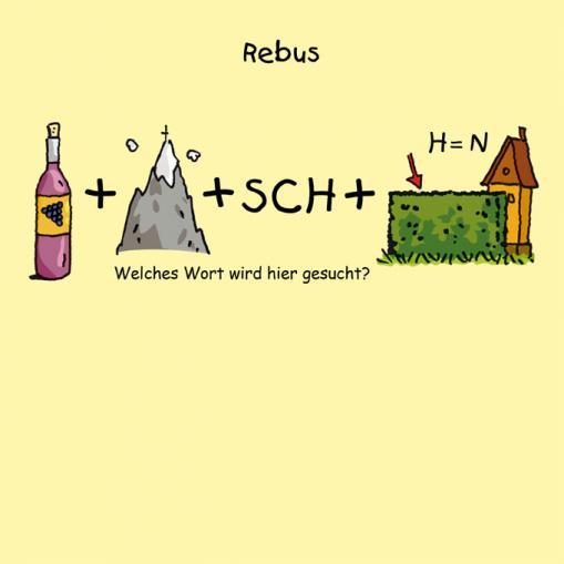 Rebus - kostenloses Rätsel für Kinder
