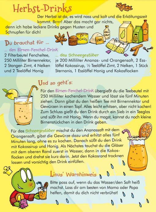 Rezept für Herbst-Drinks - Rezept für Kinder