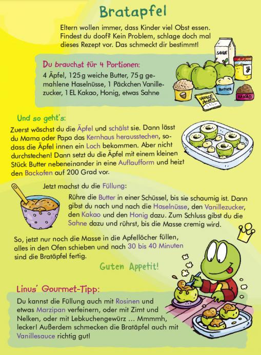 Bratapfel - Rezept für Kinder