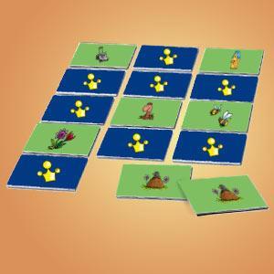 Interaktives Minispiel für Kinder - Memospiel Garten