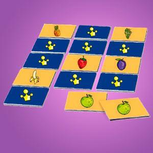 Interaktives Minispiel für Kinder - Memospiel Obstsalat