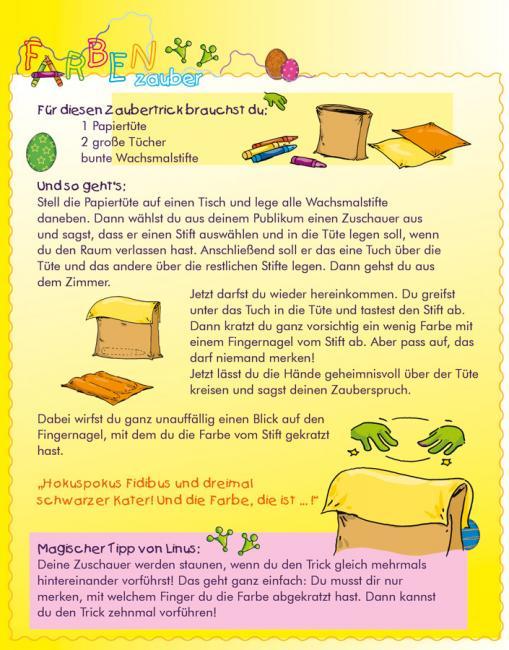 Anleitung für Farbenzauber - kostenloser Zaubertrick für Kinder