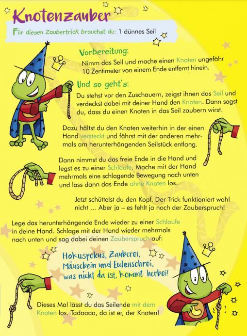 Anleitung für Knotenzauber - kostenloser Zaubertrick für Kinder