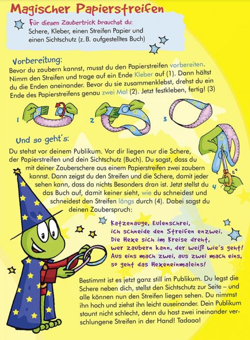 Anleitung für Papierstreifen - kostenloser Zaubertrick für Kinder