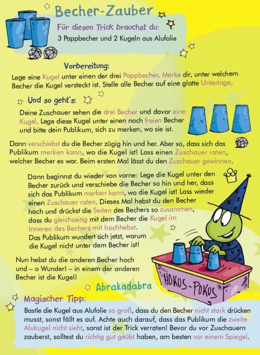Anleitung für Becher-Zauber - kostenloser Zaubertrick für Kinder