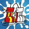 Gummistiefel - kostenlose Ausmalbilder für Kinder